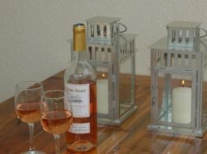 wijn op tafel